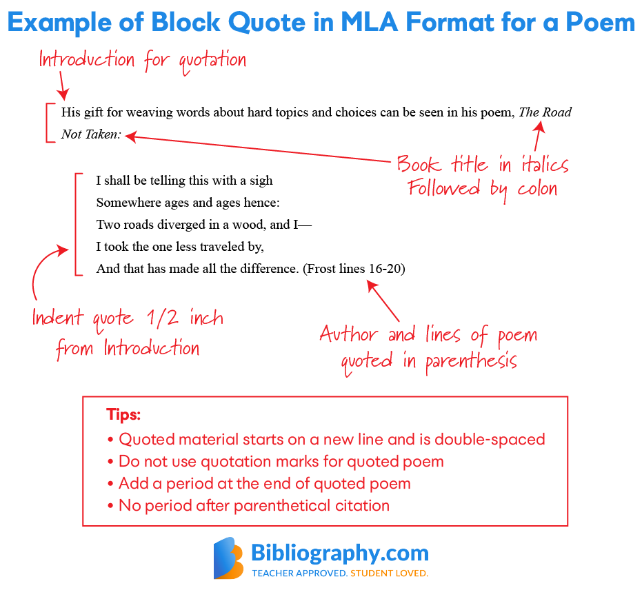 Tip On Citing A Poem In Mla Style Bibliography Com How To Parenthetically Cite Textbook