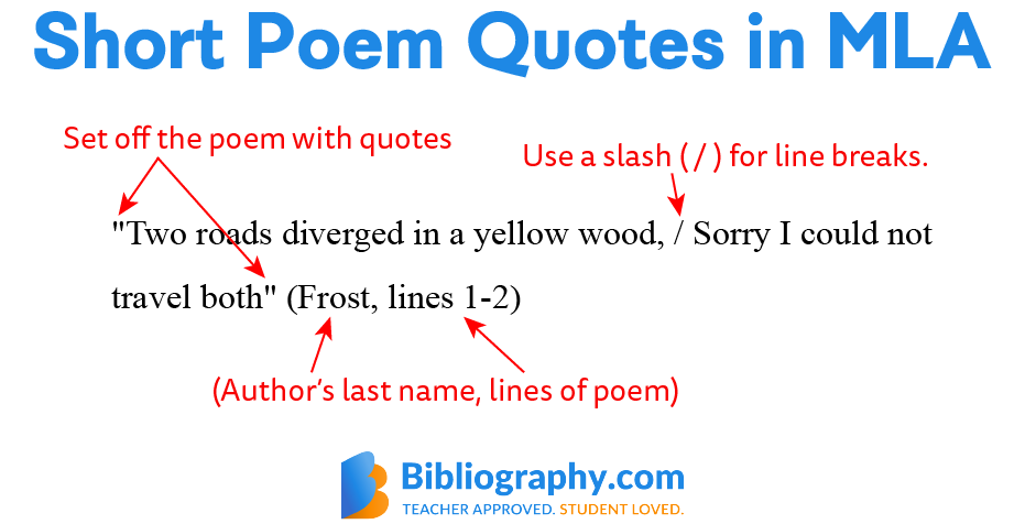 short poem quotes in MLA example