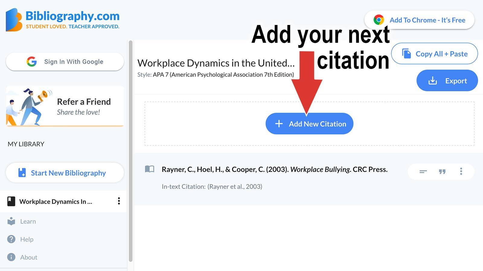 citation generator next citation