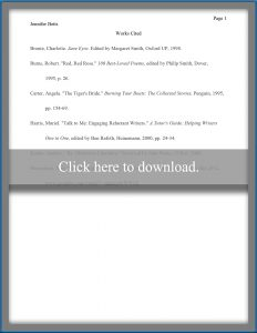 Works cited page example to download