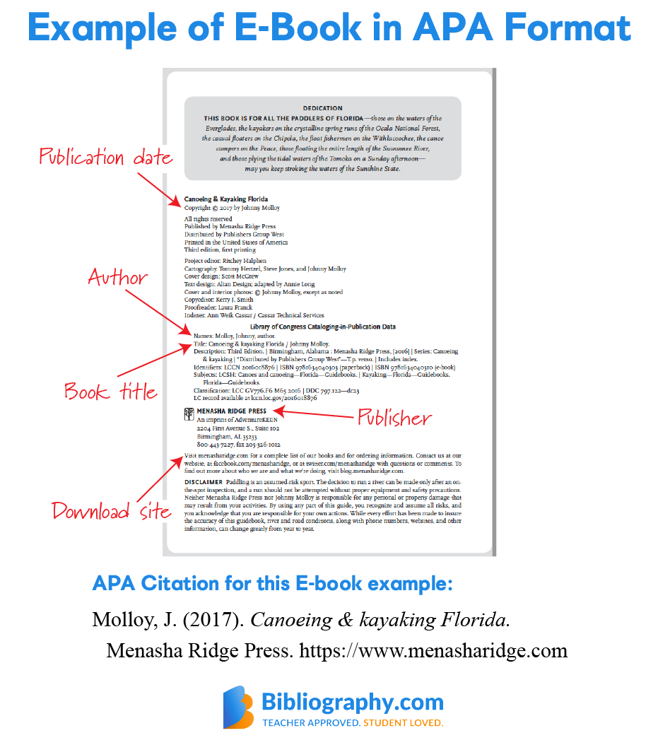 example APA E-book citation