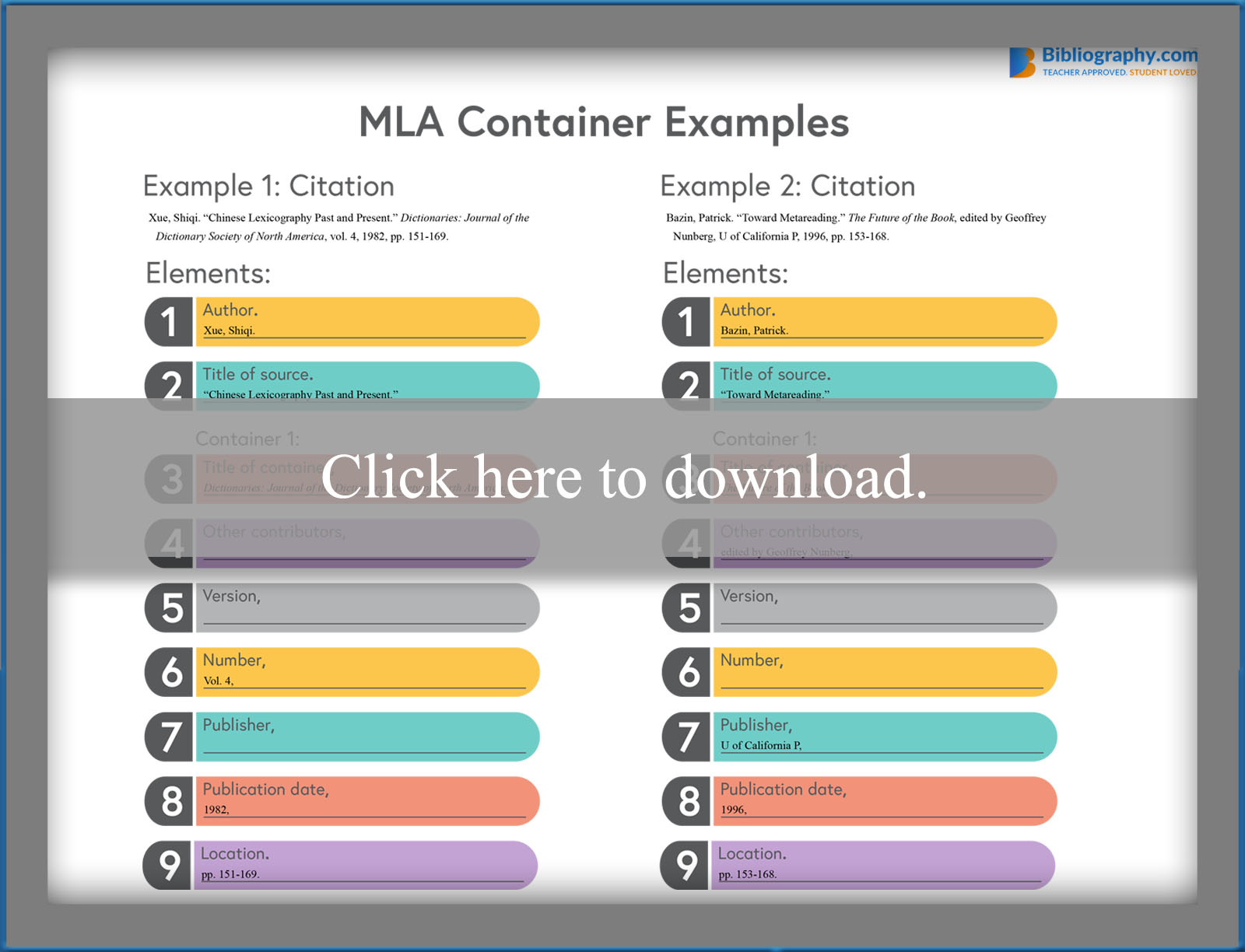 MLA Container Example
