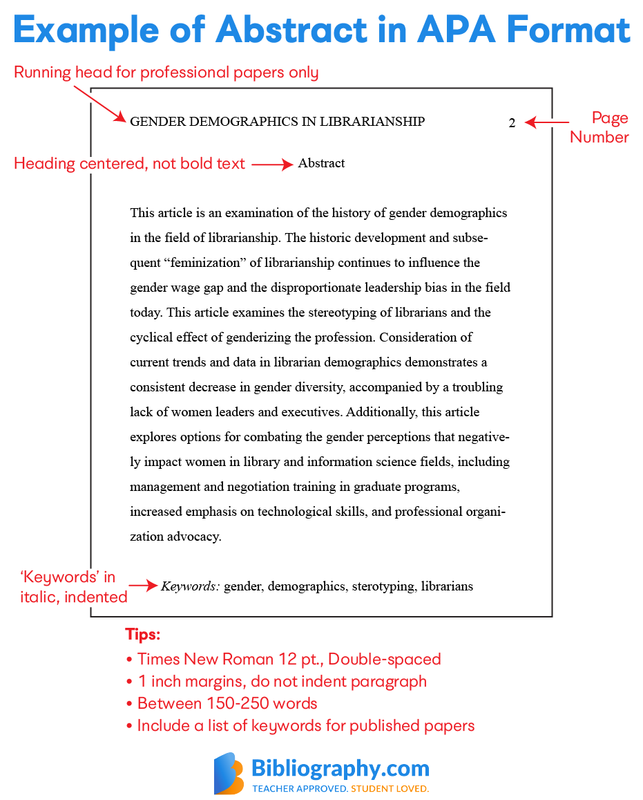 example APA abstract