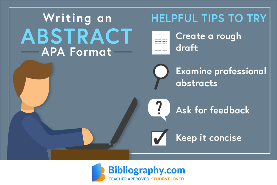infographic tips writing abstract in apa