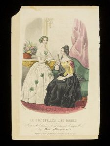 Illustration of two women in dresses from a primary sources website