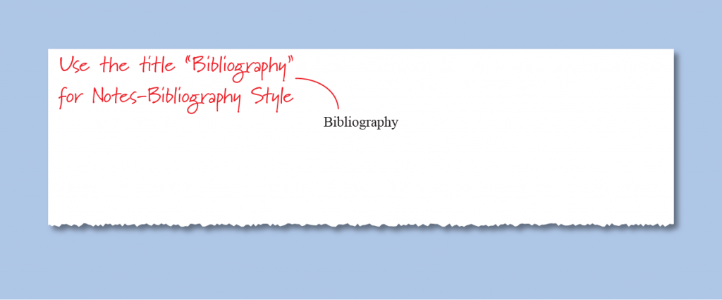 Sample Chicago style bibliography in a Word document