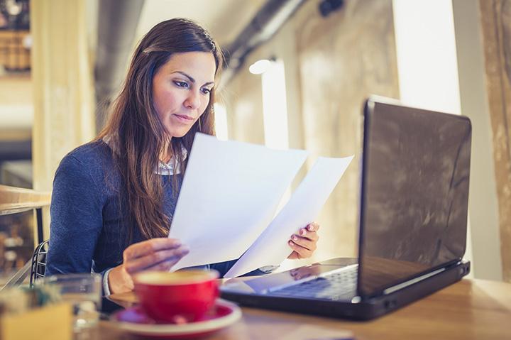 Woman looking at APA Citation Examples