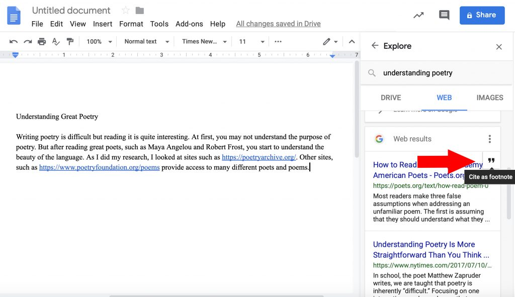 How to add citations in Google Docs tutorial screenshot