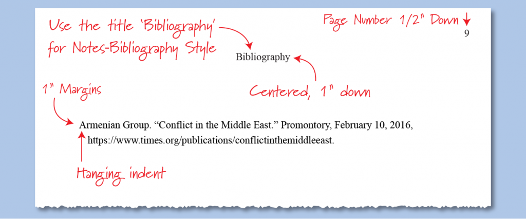 Example bibliography with Chicago style citations