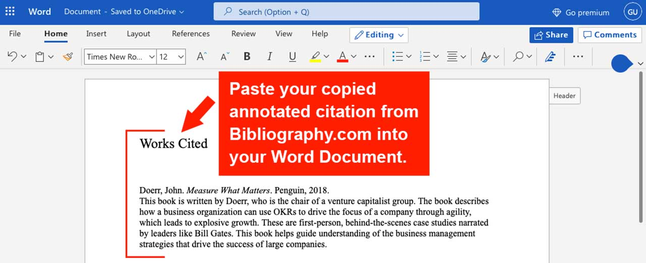 paste microsoft word document citation generator make citation using generator annotated bibliography bibliography.com