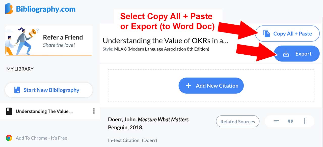 export citation generator make citation using generator annotated bibliography bibliography.com