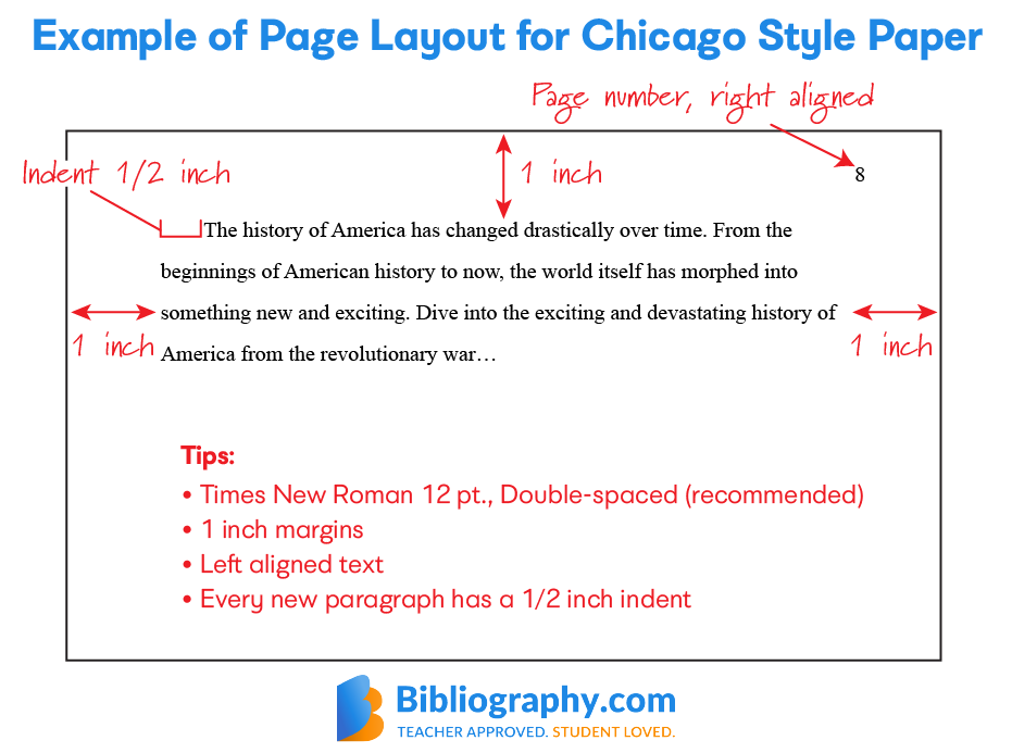example page layout chicago style